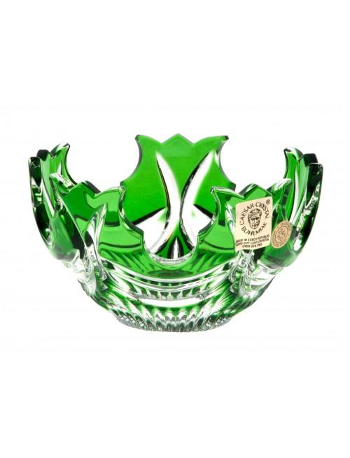 Crystal bowl Diadem, color green, diameter 100 mm