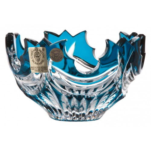 Crystal bowl Diadem, color azure, diameter 100 mm