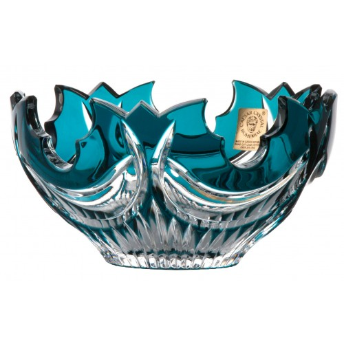 Crystal bowl Diadem, color azure, diameter 130 mm