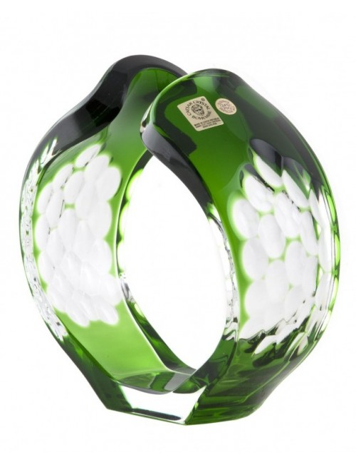 Crystal Candlestick Sirius, color green, height 165 mm