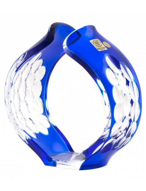 Crystal Candlestick Sirius, color blue, height 165 mm