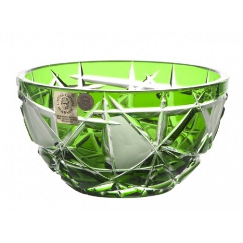 Crystal Bowl Mars I, color green, diameter 116 mm