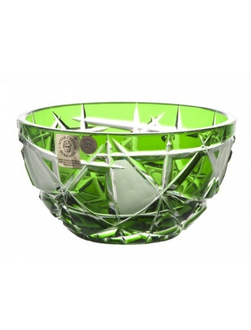 Crystal Bowl Mars I, color green, diameter 116 mm