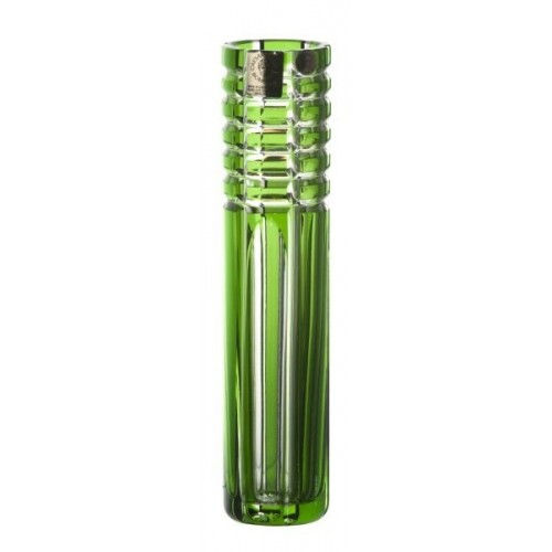 Crystal Vase Nora, color green, height 180 mm