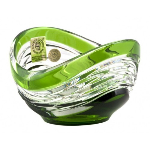 Crystal Bowl Poem, color green, diameter 95 mm