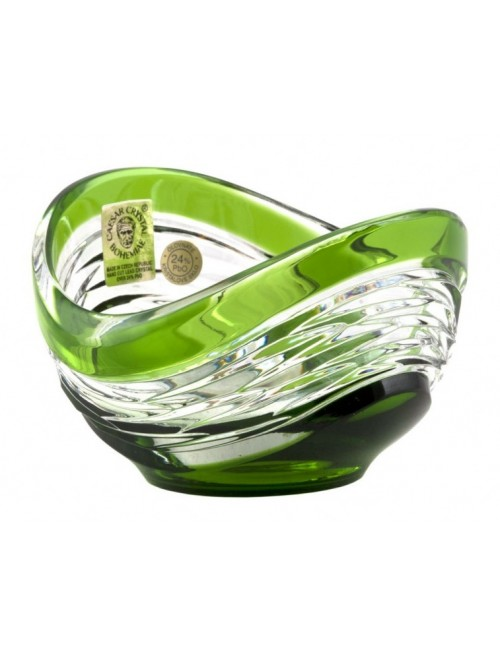 Crystal Bowl Poem, color green, diameter 95 mm