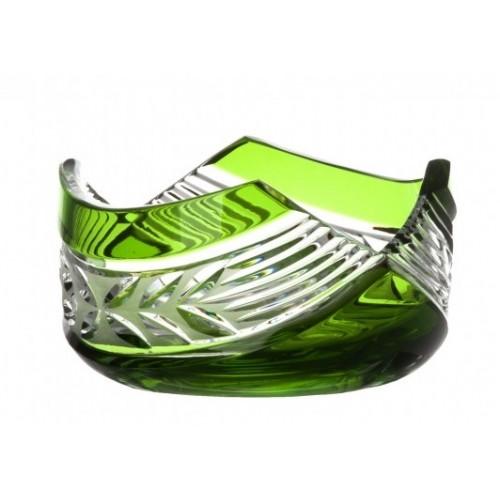 Crystal Bowl Laurel, color green, diameter 100 mm