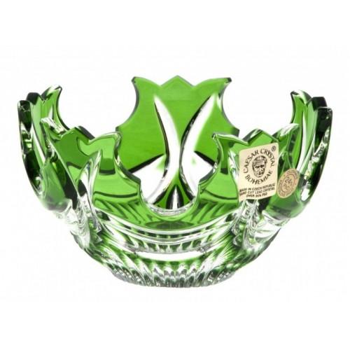 Crystal Bowl Diadem, color green, diameter 130 mm