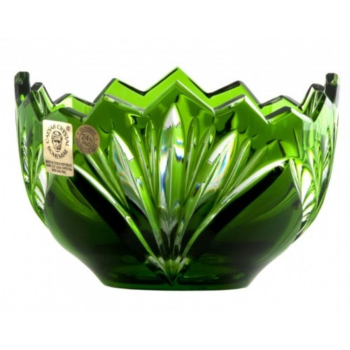 Crystal Bowl Jonathan, color green, diameter 110 mm