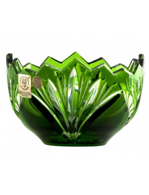 Crystal Bowl Jonathan, color green, diameter 110 mm