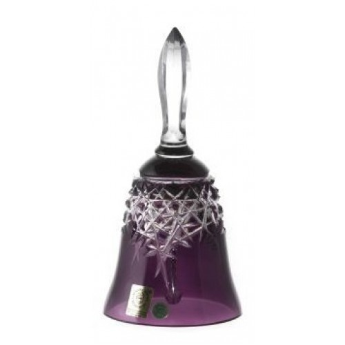 Crystal Bell New Milenium, color violet, height 165 mm