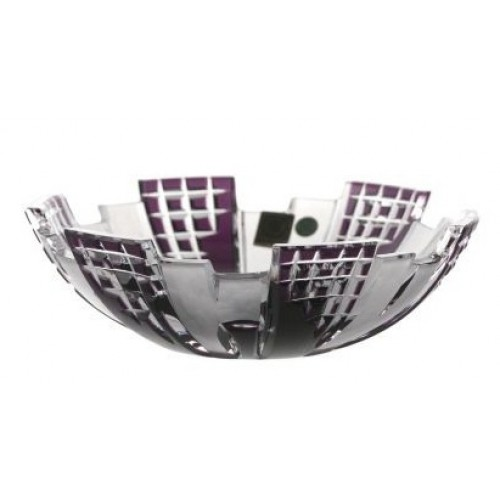 Crystal Bowl Metropolis, color violet, diameter 180 mm