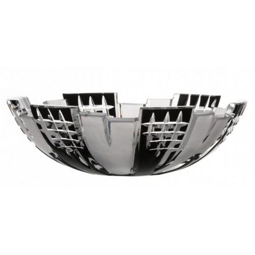 Crystal Bowl Metropolis, color black, diameter 180 mm