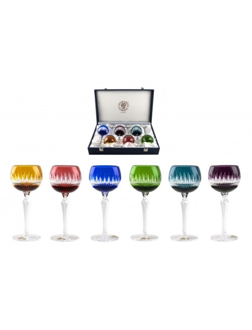 Crystal Set Wine Glass Thorn 190 Lux, color mix, volume 190 ml