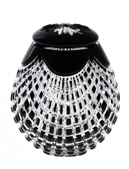 Crystal Urn Quadrus, color black, height 145 mm