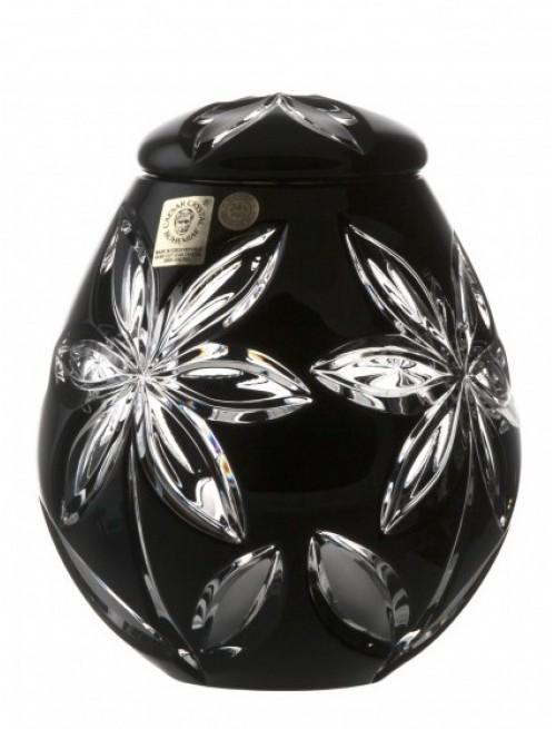 Crystal Urn Linda, color black, height 145 mm