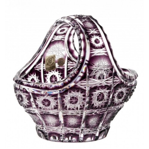 Crystal Basket Paula, color violet, diameter 150 mm