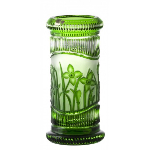 Crystal Vase Flowers, color green, height 300 mm