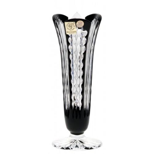Crystal Vase Akiko, color black, height 175 mm