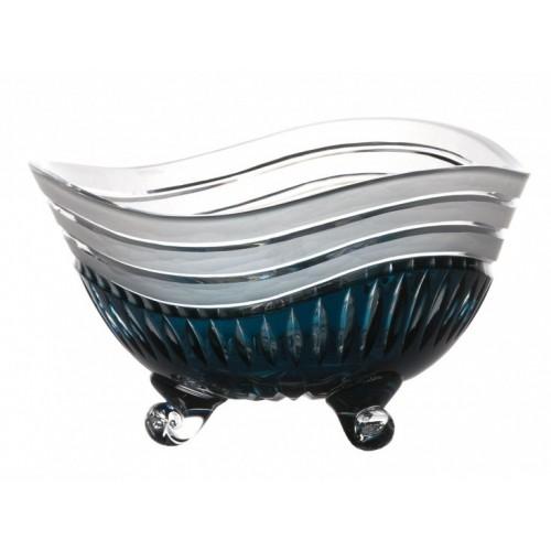 Crystal Bowl Dune, color azure, diameter 235 mm
