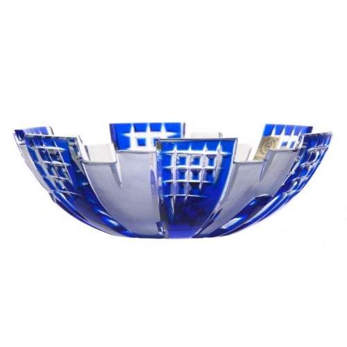 Crystal Bowl Metropolis, color blue, diameter 180 mm