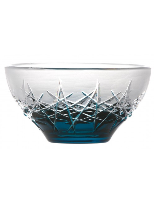 Crystal Bowl Hoarfrost, color azure, diameter 130 mm
