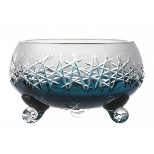 Crystal Bowl Hoarfrost, color azure, diameter 155 mm