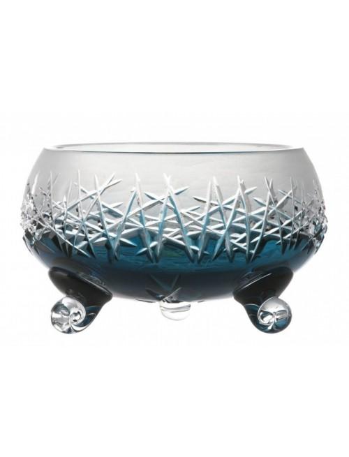 Crystal Bowl Hoarfrost, color azure, diameter 155 mm