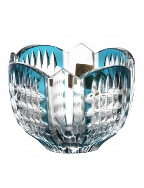 Crystal Bowl Akiko, color azure, diameter 95 mm