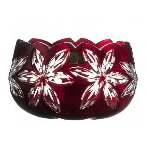 Crystal Bowl Linda, color ruby, diameter 205 mm