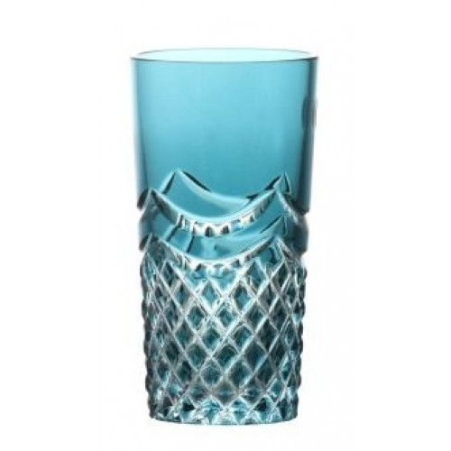 Crystal Glass Quadrus, color azure, volume 100 ml