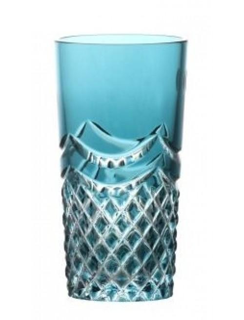 Crystal Glass Quadrus, color azure, volume 100 ml