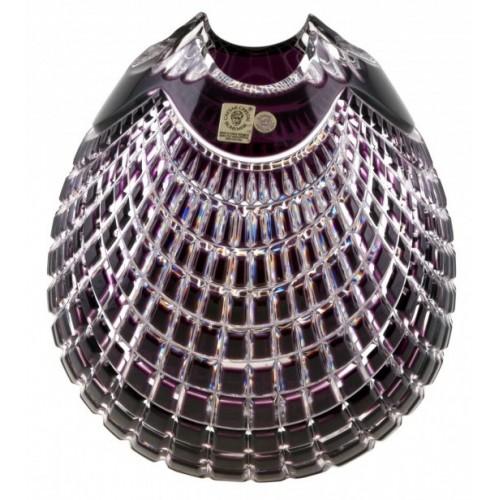 Crystal Vase Quadrus, color violet, height 135 mm