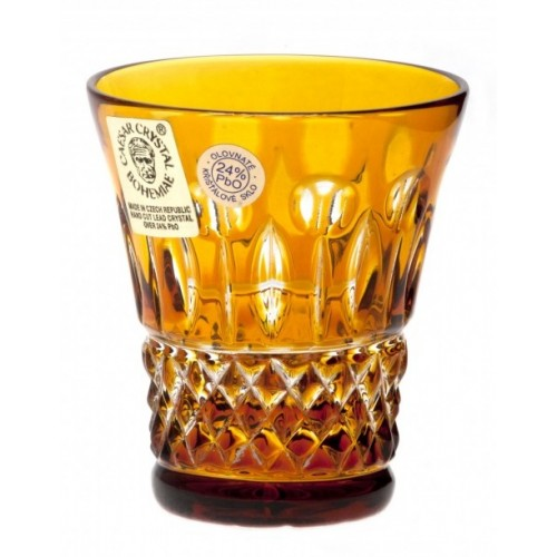Crystal Shot Glass Tomy, color amber, volume 45 ml