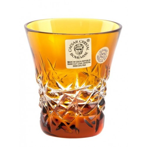 Crystal Shot Glass Hoarfrost, color amber, volume 45 ml