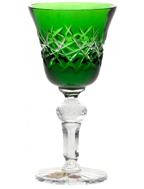 Crystal Shot Glass Hoarfrost, color green volume 50 ml