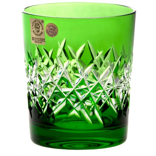Crystal Glass Hoarfrost, color green, volume 290 ml