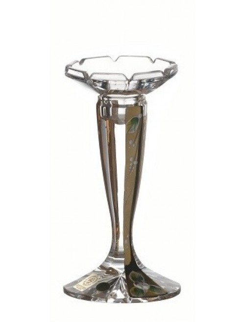 Crystal Candlestick Florance gold, color clear crystal, height 160 mm