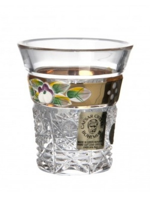 Crystal Shot Glass gold, color clear crystal, volume 45 ml