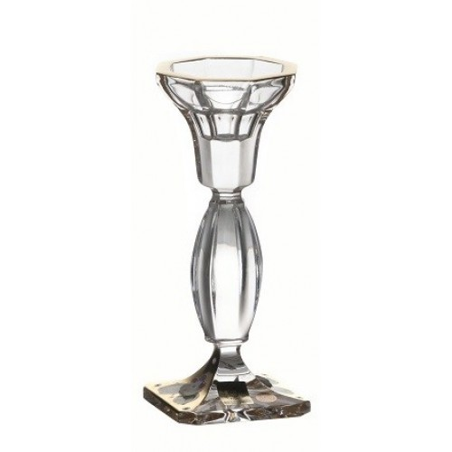 Crystal Candlestick Body gold, color clear crystal, height 160 mm