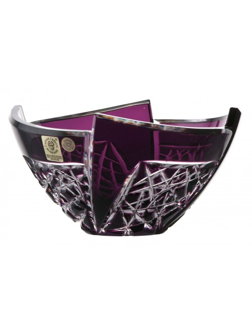Crystal bowl Fan, color violet, diameter 155 mm