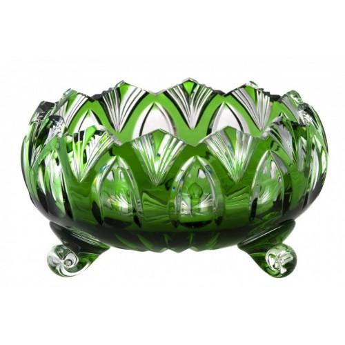 Crystal Bowl Lotus, color green, diameter 155 mm