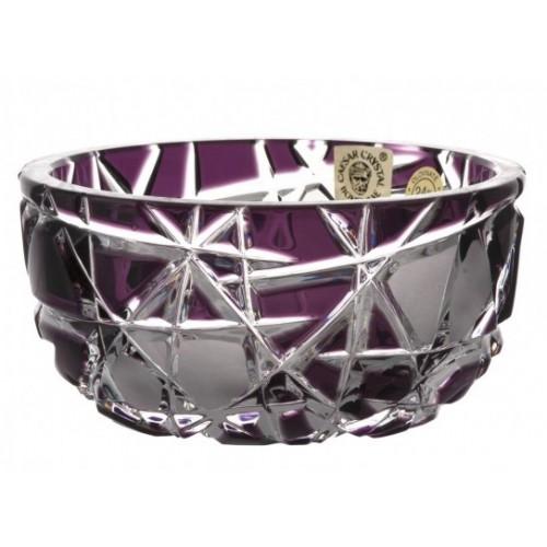 Crystal Bowl Mars II, color violet, diameter 116 mm