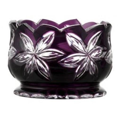 Crystal bowl Linda, color violet, diameter 160 mm
