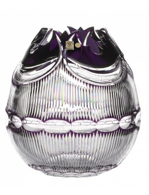 Crystal Vase Diadem, color violet, height 280 mm