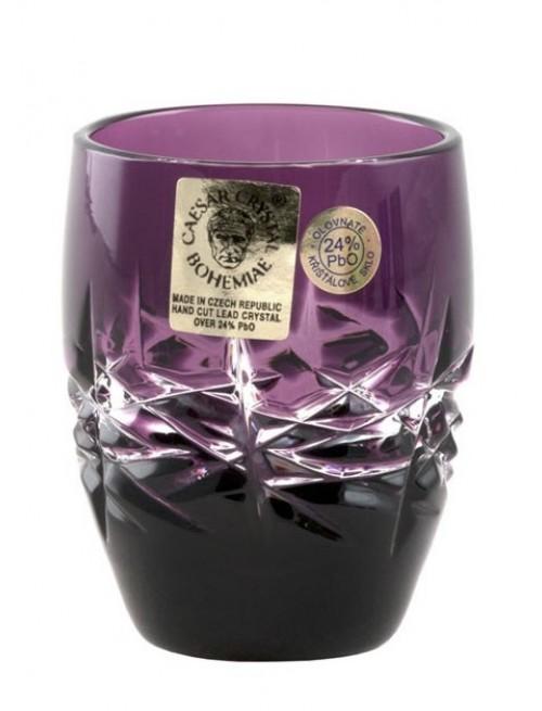 Crystal Shot Glass Hoarfrost, color violet, volume 50 ml