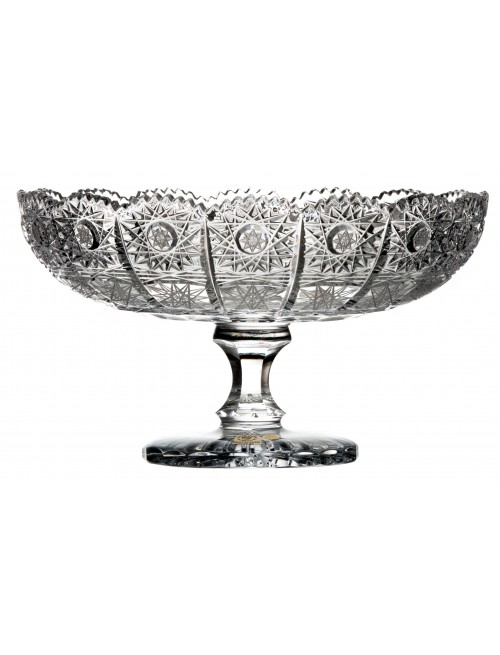 Crystal footed bowl 500PK, color clear crystal, diameter 255 mm