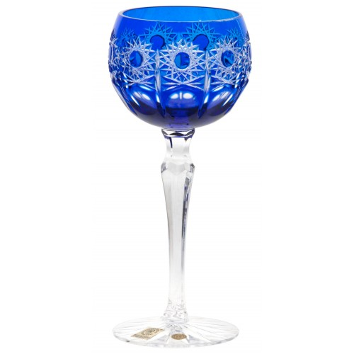 Crystal wine glass Petra, color blue, volume 190 ml
