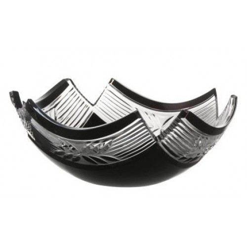 Crystal Bowl Laurel, color black, diameter 230 mm