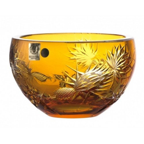 Crystal Bowl Thistle, color amber, diameter 140 mm